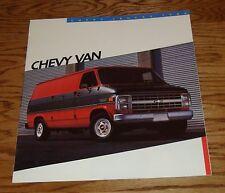 Original 1986 Chevrolet Van Sales Brochure 86 Chevy