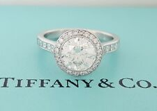 2.04 ct Tiffany & Co Embrace Platinum Round Cut Diamond Engagement Ring 3EX