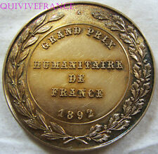 MED4508 - MEDAILLE GRAND PRIX HUMAINTAIRE DE FRANCE 1892