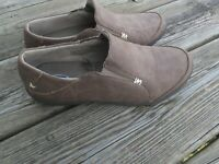 Dr Scholl's  Slip On Brown Suede Leather Womens Loafer Shoes Size 7M