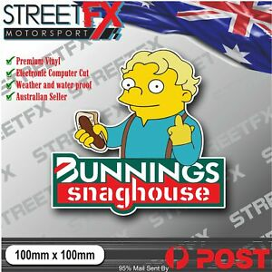 Bunnings Snaghouse Sticker Decal Aussie Straya 4x4 Car Ute Illest YTB Funny