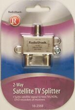 2-Way Satellite TV Splitter with DC Pass Through RadioShack 16-2568