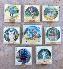 Vintage Knowles Wizard of Oz 8 Collector Plates/ Coas Orig Boxes *Mint Condition