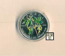 2003 Colorized Silver Maple Leaf 1oz .9999 Fine (Sugar Maple) (10799) (OOAK)