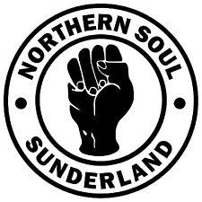 SUNDERLAND - NORTHERN SOUL - CAR / WINDOW STICKER + 1 FREE / NEW / GIFTS