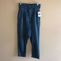 NEW NWT Free People We The Free Mover Shaker Blue Boho High Waisted Crop Pants 0