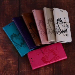 Luxury Magnetic Heart Leather Flip Case Wallet Cover For Samsung Huawei Xiaomi