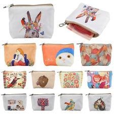Cartoon Printting Canvas Clutch Change Coin Purse Wallet Pouch Bag Case Eyeful