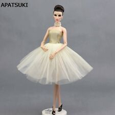 Beige Ballet Dress For 11.5inch Doll Evening Dresses Clothes For 1/6 Dolls Toy