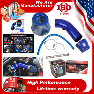 3Inch Universal Auto Car Cold Air Intake Filter Aluminum Induction Hose Pipe Kit
