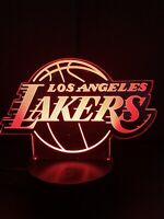 Lakers Angels Nightlight Creative 3D Visualization LED Lamp  7 Change Colors