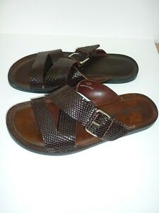 BN NEW Men's Russell & Bromley Bucklebury type  Brown leather Sandals 8 Uk 42