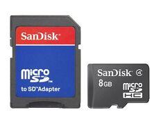 SanDisk 8GB 8G Micro SD Micro SDHC TF Class 4 Flash Memory Card + Adapter