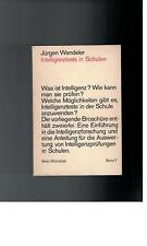 Jürgen wendeler-intelligence tests in schools - 1970