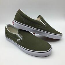 """Vans Men/Women's Shoes """"Classic Slip-On"""" -- Winter Moss/True White"""