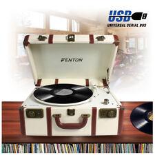 Fenton RP145 3 Speed Retro Vinyl LP Record Player Turntable 33 1/3 45 78 RPM