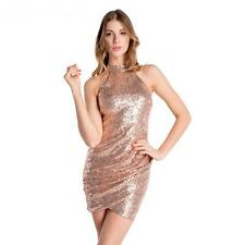 Gold Sequined Backless Women Pencil Dress Bodycon Dresses