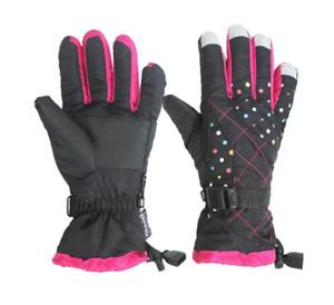 Ladies Function Skiing Gloves Waterproof Warm Snowboard Bike Gloves