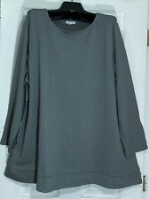 J Jill women 2X size boat neck tunic layered bottom with 2 side pockets A-line