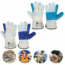 Thorn Proof Mens Gardening Gloves Cow leather work gloves for Rigger & Builders