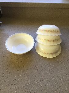 Arcopal Bowls x 4 Victoria Design Cereal/Dessert/Soup