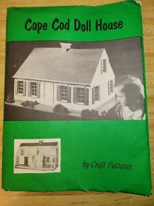Complete Vintage Woodworking Craft Patterns Cape Cod Doll House A Neely Hall 50s