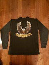 Vintage Harley Davidson 3D Emblem T Shirt Single Stitch 1987