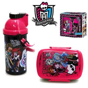 Monster High Lunch Set Brotdose + Trinkflasche Brotbox Pausenbrot Vesperdose