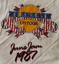 Vintage 1987 Alabama Band Tour Bandana Head Band Scarf Original