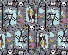 FAT QUARTER NIGHTMARE BEFORE CHRISTMAS FABRIC SALLY JACK STAINED GLASS COTTON FQ