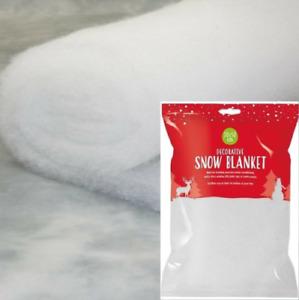 SNOW BLANKET Fluffy Fake Artificial Christmas Xmas Decoration Nativity Roll