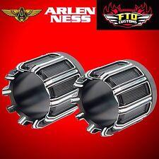 """Arlen Ness 10 Gauge 4 1/2"""" Exhaust Tip Black Contrast for Vance & Hines 05-985"""