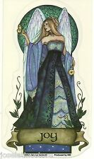 "Jessica Galbreath's Angel Virtues ""Joy"" 5.5 x 3 inch Vinyl Sticker Decal"