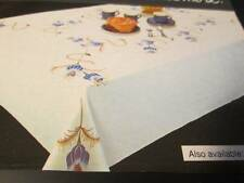 Tri-Chem Fantasy Flower Tablecloth #8937-45 Inches Square -To Paint/Embroider