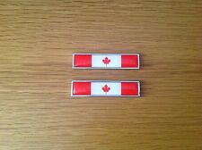2x CANADA NATIONAL FLAG METAL BADGE EMBLEMS CANADIAN MAPLE LEAF - UK SELLER
