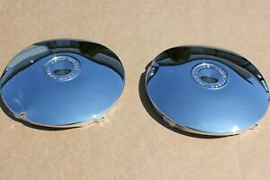 "Chrome John Deere Hub Caps Wheel Covers Baby Moons 12"" Rim Cap Patio JD Scratch"