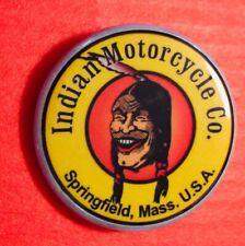 "Indian Motorcycle ""LAUGHING INDIAN"" Pin ~ 1 1/4"" PIN CLOSURE...SHIPS FREE!"