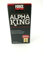 Force Factor Alpha King 15 Capsules Build Lean Muscle Exp 10/2021