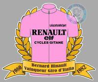 STICKER MAILLOT ROSE VELO BERNARD HINAULT GIRO TOUR D'ITALIE AUTOCOLLANT HB100