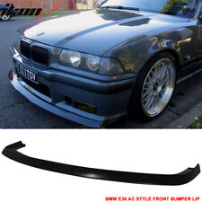 Fits 92-98 BMW E36 M3 Only 2Dr 4Dr AC Style Front Bumper Lip Spoiler-Urethane PU