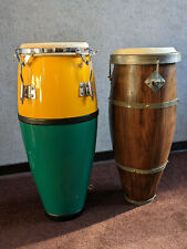 2 Congas Trommeln Percussion Atabaque aus Brasilien Latin Bongos Samba