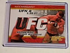 2009 Topps UFC Gold Fight Mat Relic Nate Marquardt /199 Fight Night 8