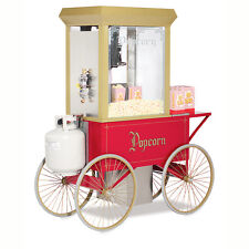 Gold Medal Gas 12V Popcorn Machine 5908Ggt with RedCart