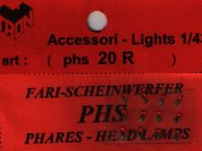 Accessori 1/43 FARI ROSSI RETTANGOLARI 2,5 x 1,0mm  TRON   PHS20R