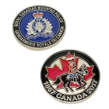 RCMP Police Challenge Coin 150 Years Mounted Police Anniversary Crest GRC Silver