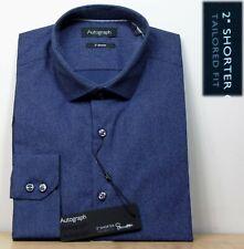 "M&s Autogramm 2"" kürzere Supima Cotton Langarm Shirt ~ Gr. 15.5"" ~ Indigo"