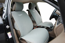 2 Front Car Seat Cover Cushions By Velour Compatible To Volkswagen-VW 801 Gray
