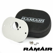 RAMAIR Carb Air Filters With Baseplate SU HS6 (Mini Offset) 25mm Bolt On