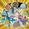 Complete 8 x Gold Sinnoh Gym Leader Badges Lapel Pins | Pokemon Series IV