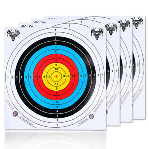 10 x Archery Target Paper Face for Arrow Bow Shooting Hunting Club 60*60cm